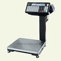 Весы торговые с печатью этикетки ВПМ-15Ф  НПВ  15 кг, d 2 5 г, без подмотки этикеток