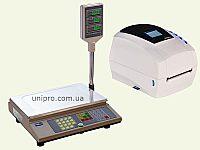 торговые весы ВТА-60 15-5 и термотрансферный принтер Sbarco T4