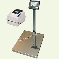 Напольные весы с термопечатью ВН-150   Sbarco T4