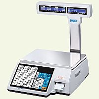 Весы торговые с печатью этикетки CAS CL5000J-IP R-15  НПВ  15 кг, d 2 5 г, стойка