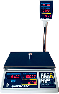 Весы торговые со стойкой Днепровес ВТД-15-РС