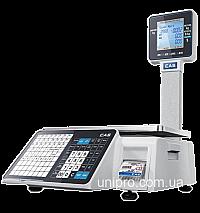 Весы торговые с печатью этикетки CAS CL-3500-J-IP-30