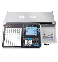 Весы торговые с печатью этикетки CAS CL-3500-J-IB-15