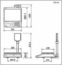 Габаритные размеры CAS PR-15 II P