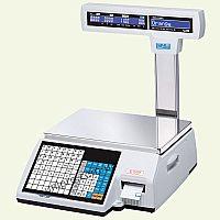 Весы торговые с печатью этикетки CAS CL5000J-IP R-30  НПВ  30 кг, d 5 10 г, стойка