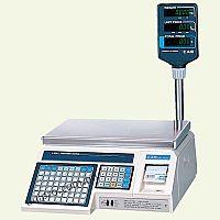Весы торговые со стойкой, с печатью на этикетках CAS LP-R-15  v. 1.6   НПВ  15 кг, d 2 5 г, RS-232