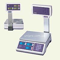 Весы торговые электронные со стойкой CAS ER JR-15 CBU