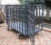 Ваги для тварин, з кліткою з двома дверима та колесами для перевезення